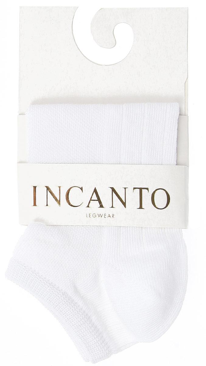 Носки женские Incanto Collant, цвет: белый (Bianco). IBD731002. Размер 2 (36/38)IBD731002_BiancoЖенские носки Incanto Collant с невысоким паголенком изготовлены из высококачественного сырья и оформлены узором. Носки очень мягкие на ощупь, а резинка плотно облегает ногу, не сдавливая ее, благодаря чему вам будет комфортно и удобно.