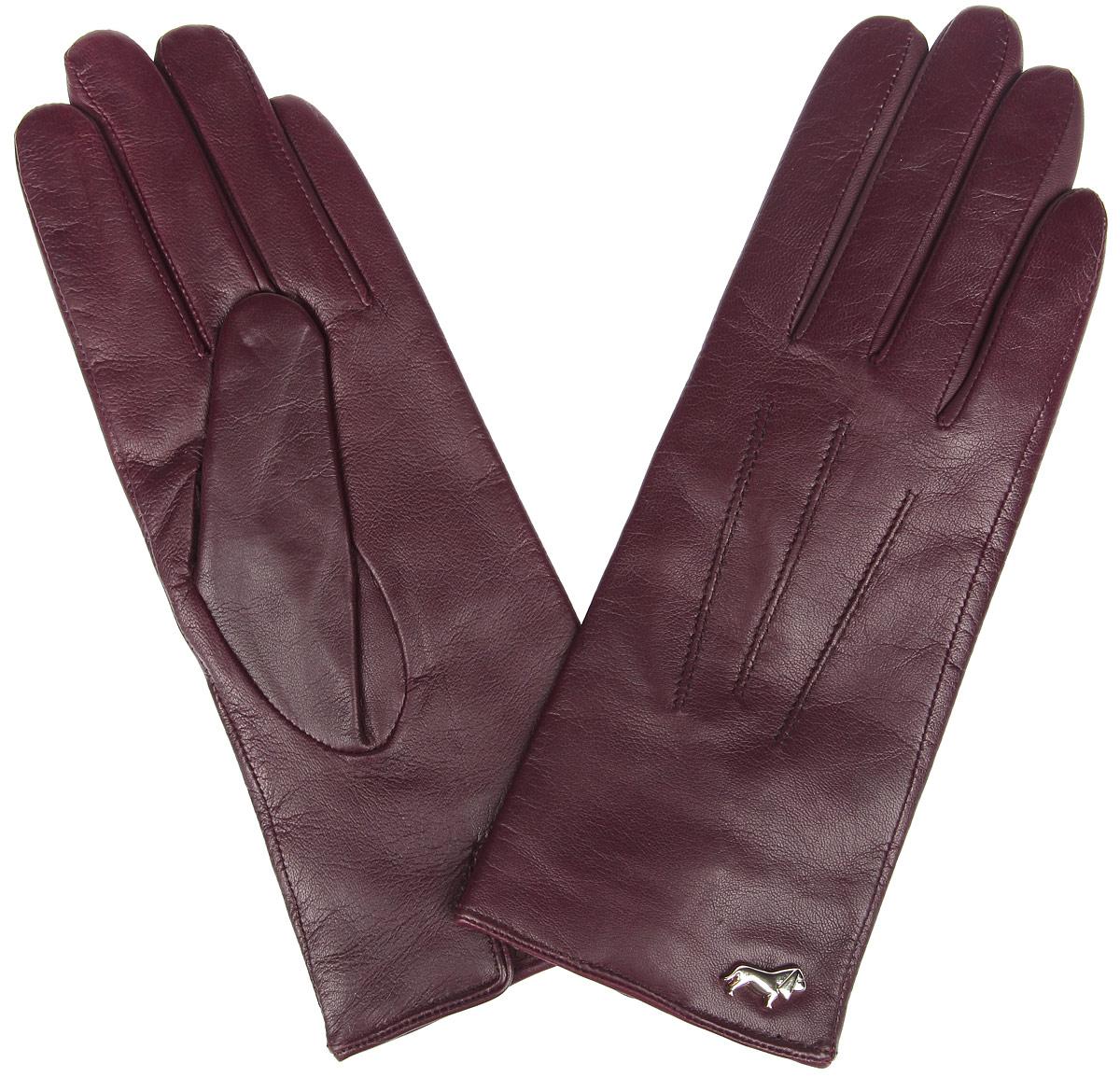 Перчатки женские Labbra, цвет: бордовый. LB-4607. Размер 7LB-4607Стильные женские перчатки Labbra не только защитят ваши руки от холода, но и станут великолепным украшением. Перчатки выполнены из из натуральной кожи ягненка с подкладкой из шерсти и акрила. Модель оформлена машинной строчкой три луча и фирменным декоративным элементом в виде собачки. В настоящее время перчатки являются неотъемлемой частью одежды, вместе с этим аксессуаром вы обретаете женственность и элегантность. Перчатки станут завершающим и подчеркивающим элементом вашего стиля и неповторимости.