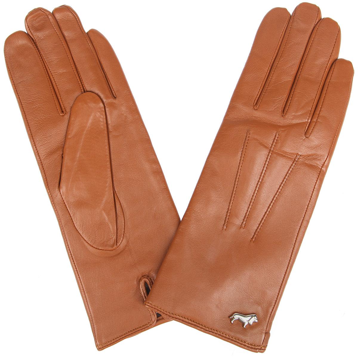 Перчатки женские Labbra, цвет: рыже-коричневый. LB-4607. Размер 6LB-4607Стильные женские перчатки Labbra не только защитят ваши руки от холода, но и станут великолепным украшением. Перчатки выполнены из из натуральной кожи ягненка с подкладкой из шерсти и акрила. Модель оформлена машинной строчкой три луча и фирменным декоративным элементом в виде собачки. В настоящее время перчатки являются неотъемлемой частью одежды, вместе с этим аксессуаром вы обретаете женственность и элегантность. Перчатки станут завершающим и подчеркивающим элементом вашего стиля и неповторимости.