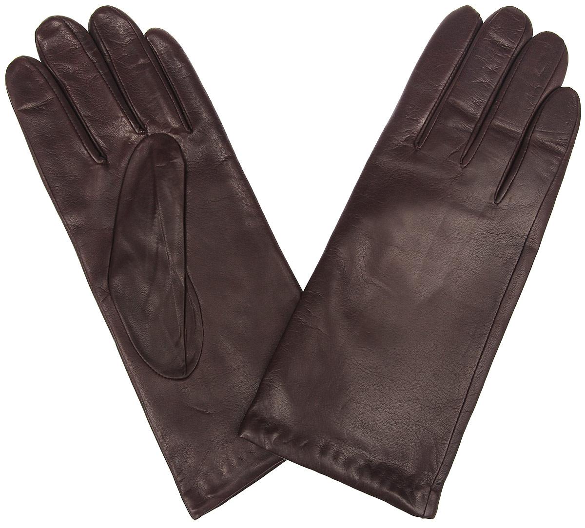 Перчатки женские Eleganzza, цвет: темно-коричневый. IS0190. Размер 8IS0190Стильные женские перчатки Eleganzza не только защитят ваши руки от холода, но и станут великолепным украшением. Перчатки выполнены из натуральной кожи ягненка, подкладка - из 100% искусственного шелка.В настоящее время перчатки являются неотъемлемой принадлежностью одежды, вместе с этим аксессуаром вы обретаете женственность и элегантность. Перчатки станут завершающим и подчеркивающим элементом вашего стиля и неповторимости.