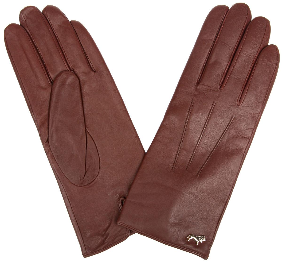 Перчатки женские Labbra, цвет: коричневый. LB-4607. Размер 7,5LB-4607Стильные женские перчатки Labbra не только защитят ваши руки от холода, но и станут великолепным украшением. Перчатки выполнены из из натуральной кожи ягненка с подкладкой из шерсти и акрила. Модель оформлена машинной строчкой три луча и фирменным декоративным элементом в виде собачки. В настоящее время перчатки являются неотъемлемой частью одежды, вместе с этим аксессуаром вы обретаете женственность и элегантность. Перчатки станут завершающим и подчеркивающим элементом вашего стиля и неповторимости.