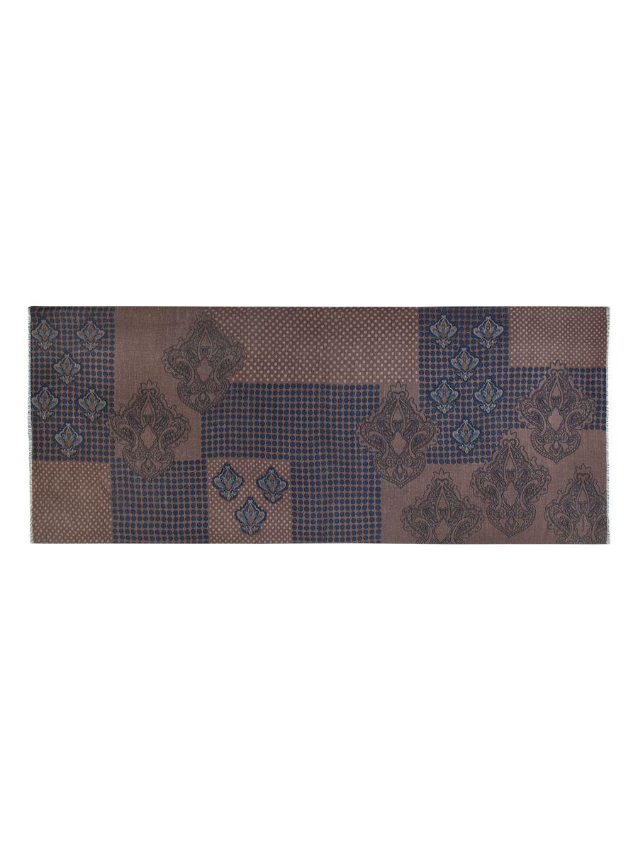 Шарф мужской Eleganzza, цвет: коричневый, темно-синий. S41-0770. Размер 70 см х 180 смS41-0770Элегантный мужской шарф Eleganzza согреет вас в холодное время года, а также станет изысканным аксессуаром, который призван подчеркнуть ваш стиль и индивидуальность. Оригинальный и стильный шарф выполнен из высококачественной 100% шерсти, он оформлен принтом в горох и украшен тонкой бахромой по краю.Такой шарф станет превосходным дополнением к любому наряду, защитит вас от ветра и холода, и позволит вам создать свой неповторимый стиль.