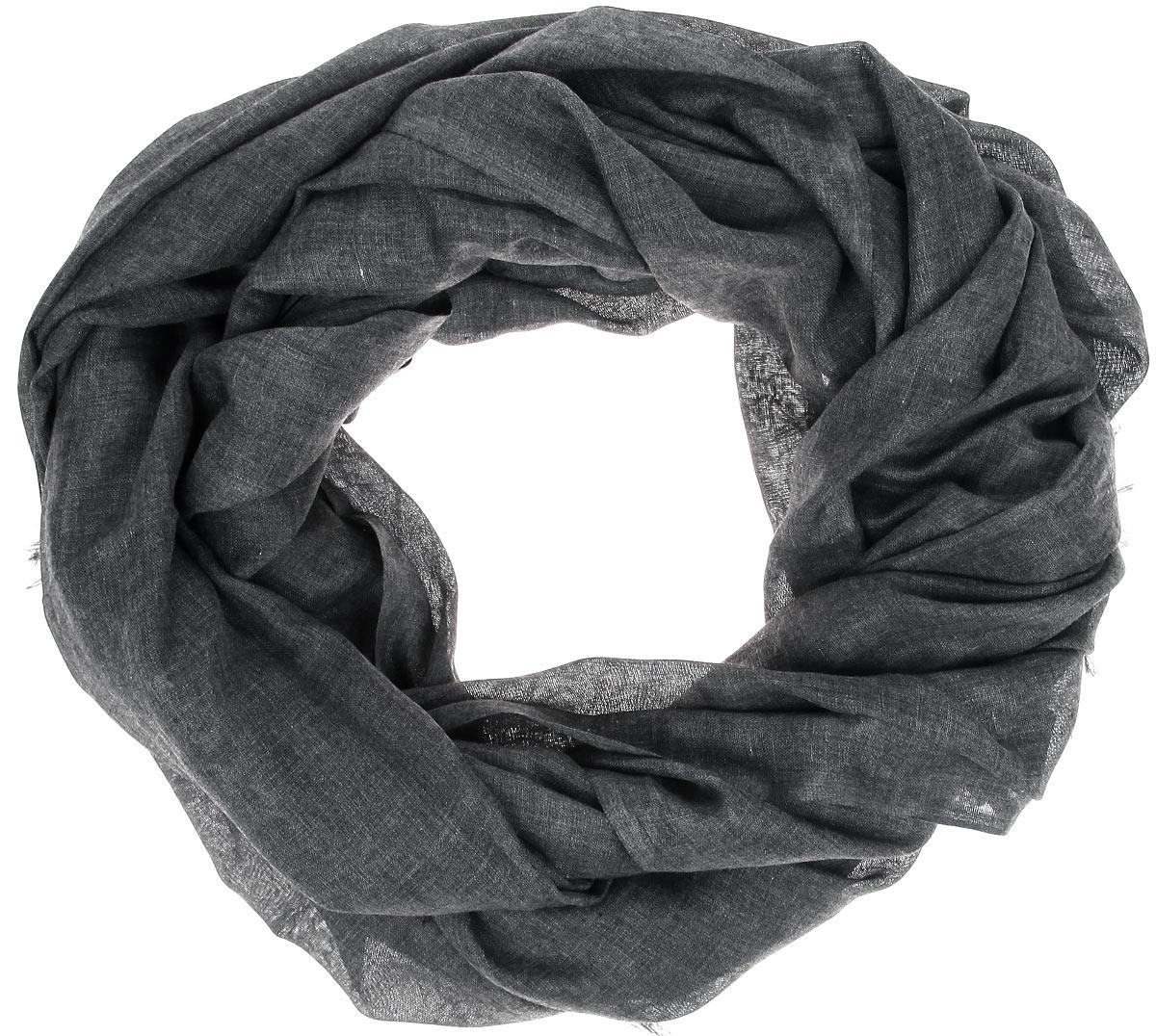 Палантин Sophie Ramage, цвет: темно-серый. GD-21513-13. Размер 90 см х 180 смGD-21513-13Палантин Sophie Ramage позволит вам создать неповторимый и запоминающийся образ. Благодаря своему составу, в который входит модал и шерсть, он теплый, мягкий, имеет приятную на ощупь текстуру. Однотонная модель оформлена оригинальным орнаментом, а по краям украшена короткой бахромой. Такой аксессуар станет стильным дополнением к гардеробу современной женщины, а также подаритощущение комфорта, тепла и уюта в прохладную погоду.