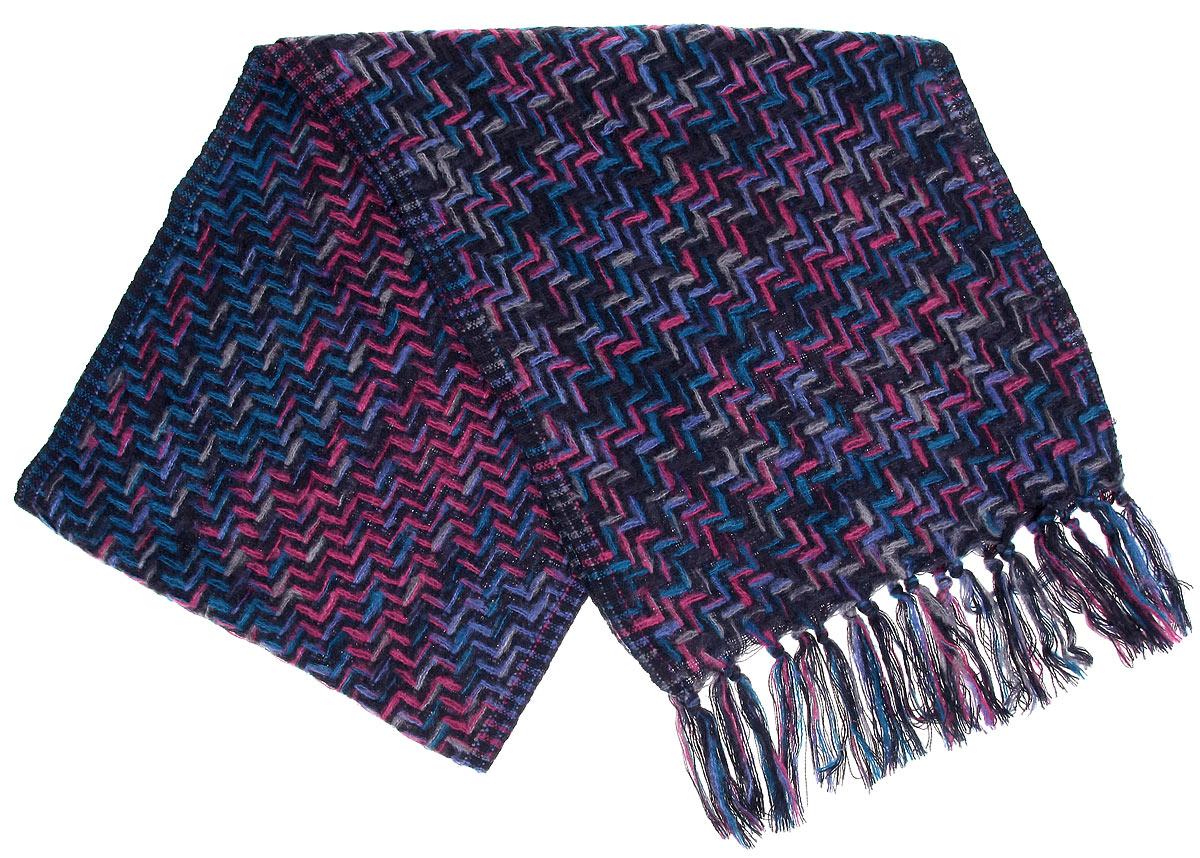 Шарф женский Sophie Ramage, цвет: темно-синий, розовый, бирюзовый. DK-21501-4. Размер 33 см х 165 смDK-21501-4Женский шарф Sophie Ramage станет отличным дополнением к вашему гардеробу в холодную погоду. Шарф, выполненный из шерсти с добавлением акрила, очень мягкий, теплый и приятный на ощупь. Модель оформлена вязаным рисунком, а по краям декорирована кисточками. Современный дизайн и расцветка делают этот шарф модным и стильным женским аксессуаром. Он подарит вам ощущение тепла, комфорта и уюта.
