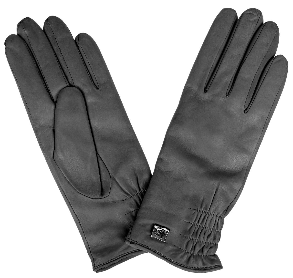 Перчатки женские Eleganzza, цвет: темно-серый. IS889. Размер 7IS889Стильные женские перчатки Eleganzza не только защитят ваши руки от холода, но и станут великолепным украшением. Перчатки выполнены из натуральной кожи на подкладке из 100% шерсти. Модель украшена декоративной резинкой и элегантным украшением в виде розы. В настоящее время перчатки являются неотъемлемой принадлежностью одежды, вместе с этим аксессуаром вы обретаете женственность и элегантность. Перчатки станут завершающим и подчеркивающим элементом вашего стиля и неповторимости.