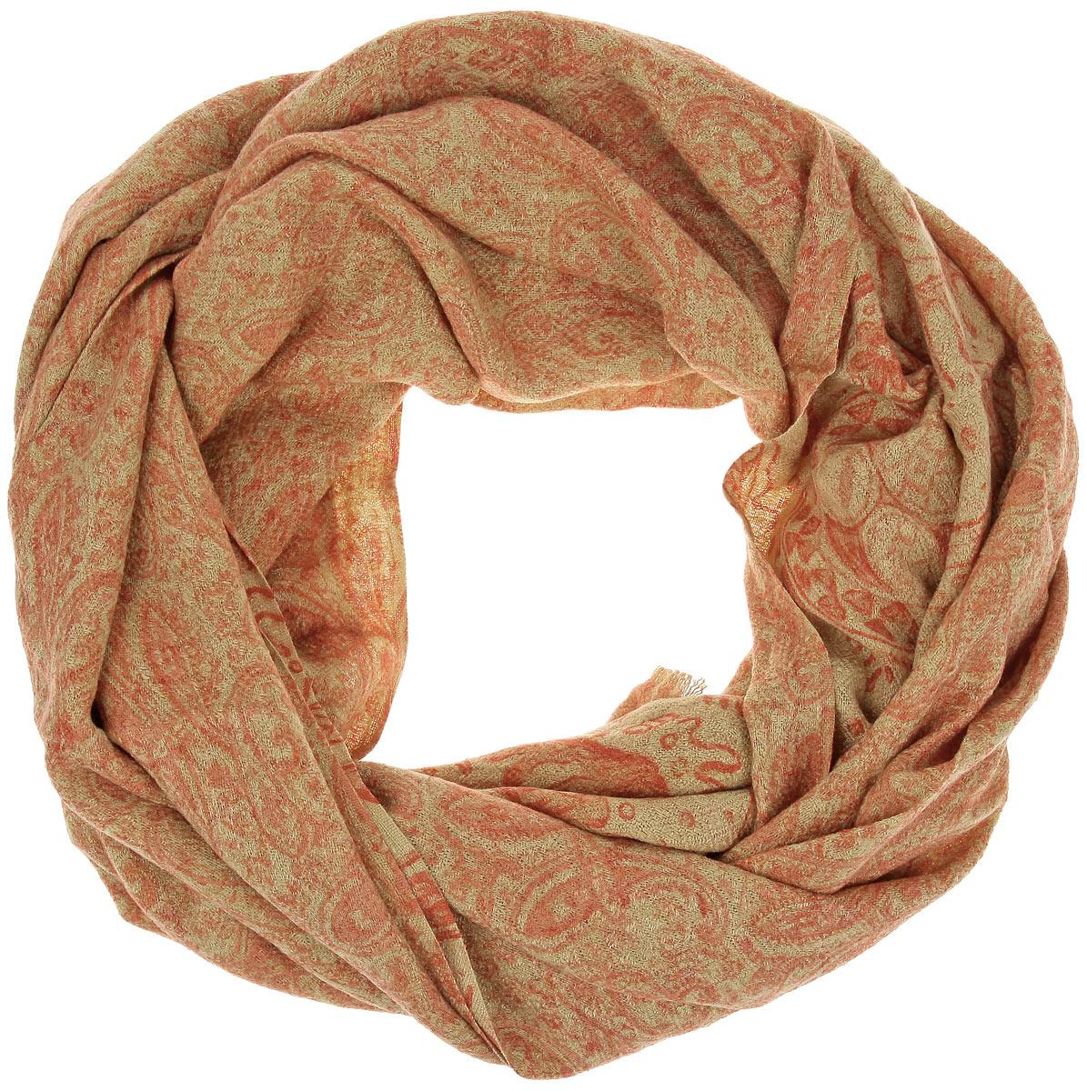 Палантин Sophie Ramage, цвет: песочный, оранжевый. AJ-21401-22. Размер 70 см х 200 смAJ-21401-22Палантин Sophie Ramage позволит вам создать неповторимый и запоминающийся образ. Благодаря своему составу, в который входит шерсть с добавлением шелка и кашемира, он теплый, мягкий и приятный на ощупь. Модель оформлена оригинальным принтом и украшена по краям бахромой.Такой аксессуар станет стильным дополнением к гардеробу современной женщины, стремящейся всегда оставаться яркой и элегантной.