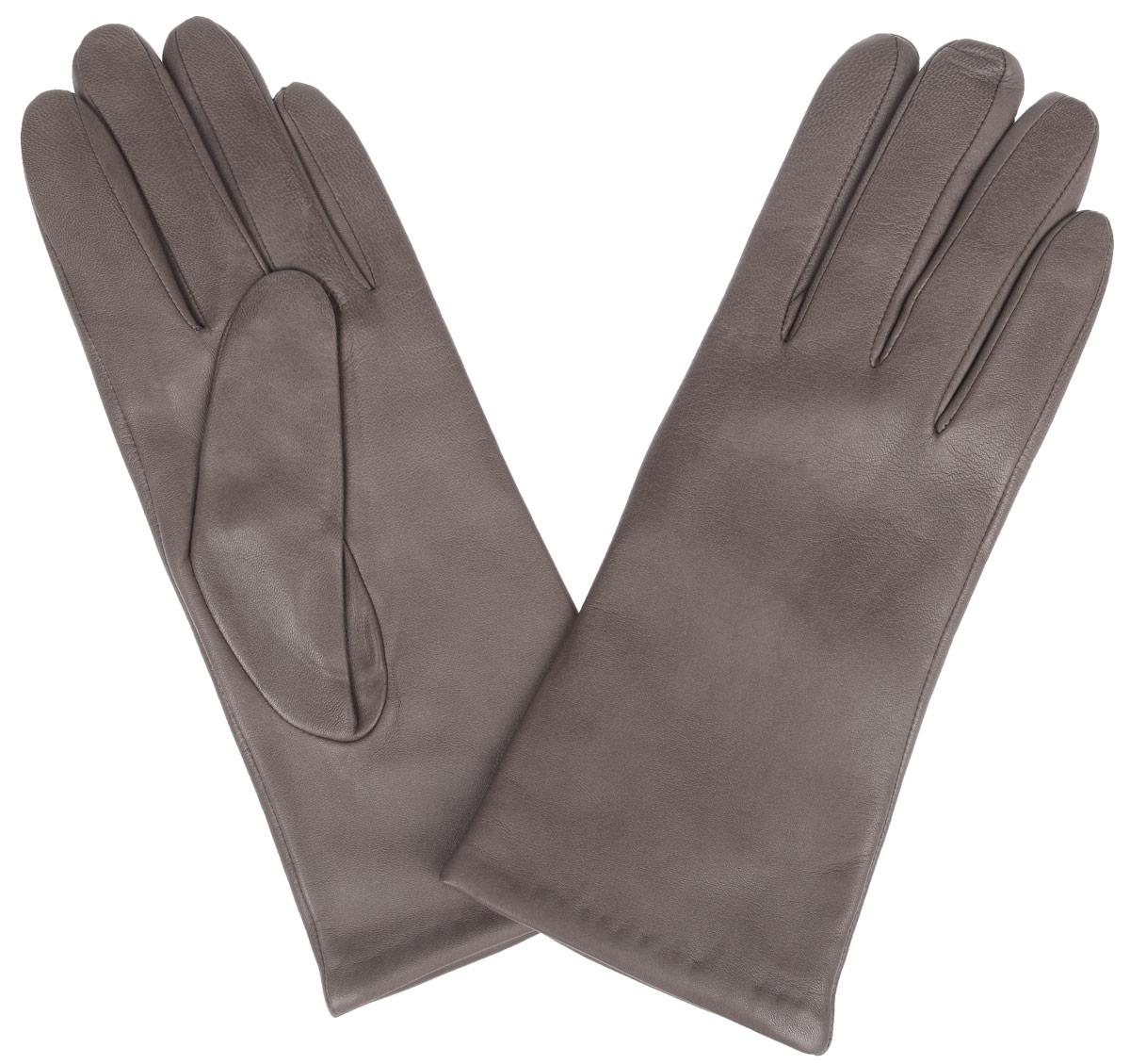 Перчатки женские Eleganzza, цвет: серо-коричневый. IS0190. Размер 6,5IS0190Стильные женские перчатки Eleganzza не только защитят ваши руки от холода, но и станут великолепным украшением. Перчатки выполнены из натуральной кожи ягненка, подкладка - из 100% искусственного шелка.В настоящее время перчатки являются неотъемлемой принадлежностью одежды, вместе с этим аксессуаром вы обретаете женственность и элегантность. Перчатки станут завершающим и подчеркивающим элементом вашего стиля и неповторимости.