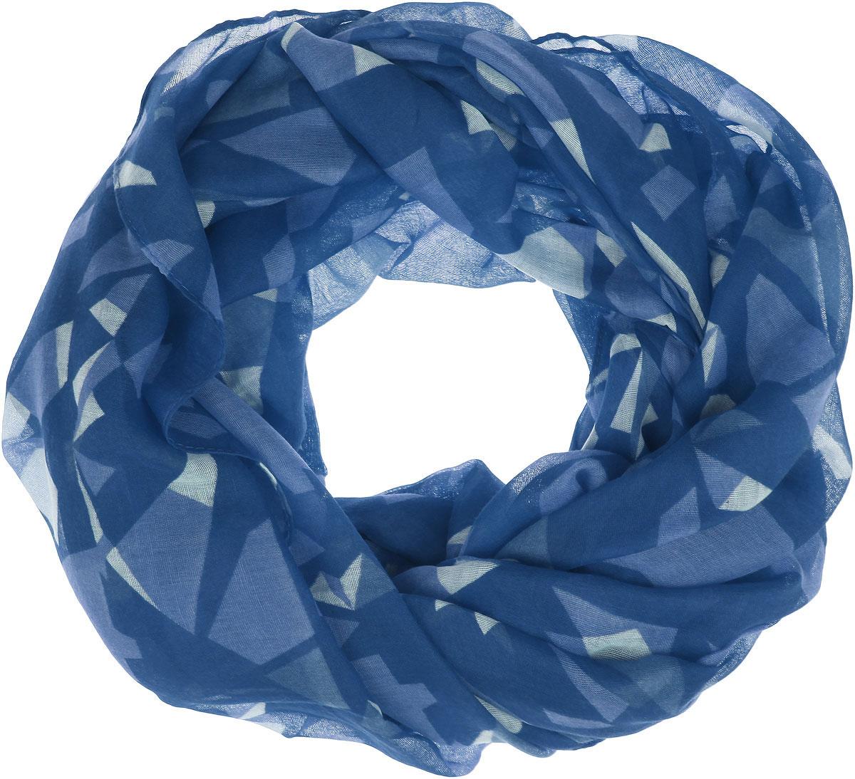 Палантин Sophie Ramage, цвет: синий, голубой. SJ-21424-4. Размер 90 см х 180 смSJ-21424-4Палантин Sophie Ramage позволит вам создать неповторимый и запоминающийся образ. Благодаря своему составу, в который входит вискоза с добавлением хлопка, он теплый, мягкий, имеет приятную на ощупь текстуру. Модель оформлена оригинальным принтом. Такой аксессуар станет стильным дополнением к гардеробу современной женщины, а также подаритощущение комфорта, тепла и уюта в прохладную погоду.