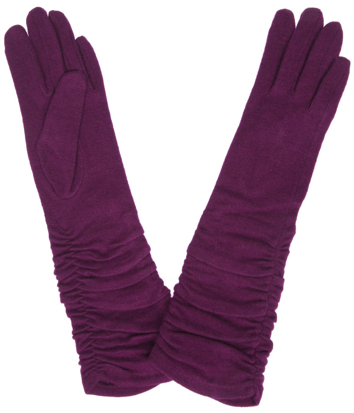 Перчатки женские Labbra, цвет: бордовый. LB-PH-97L. Размер S (6,5)LB-PH-97LДлинные женские перчатки Labbra не только защитят ваши руки от холода, но и станут стильным украшением. Перчатки выполнены из шерсти с добавлением акрила и ангоры. Они максимально сохраняют тепло, мягкие, идеально сидят на руке и хорошо тянутся. По бокам модель присборена на эластичные резинки.Перчатки являются неотъемлемой принадлежностью одежды, они станут завершающим и подчеркивающим элементом вашего неповторимого стиля и индивидуальности.