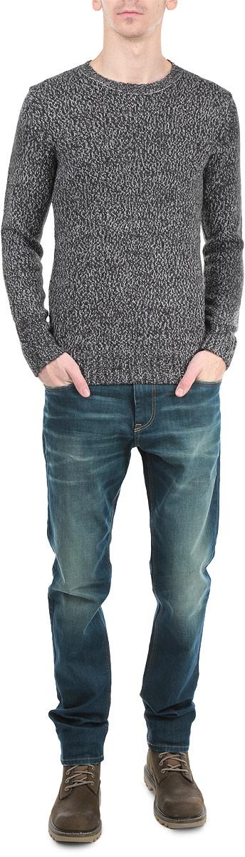 Пуловер мужской Broadway, цвет: черный. 10154062 913. Размер L (50)10154062 913Стильный мужской пуловер Broadway, изготовленный из пряжи на основе акрила добавлением шерсти, не сковывает движения, обеспечивая наибольший комфорт.Модель с круглым вырезом горловины и длинными рукавами великолепно сидит. Модный пуловер мелкой вязки поможет вам создать стильный современный образ в стиле Casual. Этот удобный и стильный пуловер станет отличным дополнением к вашему гардеробу. В нем вы всегда будете чувствовать себя уютно в прохладное время года.