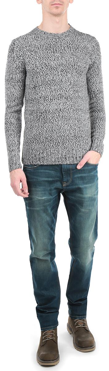 Пуловер мужской Broadway, цвет: серый. 10154062 881. Размер L (50)10154062 881Стильный мужской пуловер Broadway, изготовленный из пряжи на основе акрила добавлением шерсти, не сковывает движения, обеспечивая наибольший комфорт.Модель с круглым вырезом горловины и длинными рукавами великолепно сидит. Модный пуловер мелкой вязки поможет вам создать стильный современный образ в стиле Casual. Этот удобный и стильный пуловер станет отличным дополнением к вашему гардеробу. В нем вы всегда будете чувствовать себя уютно в прохладное время года.