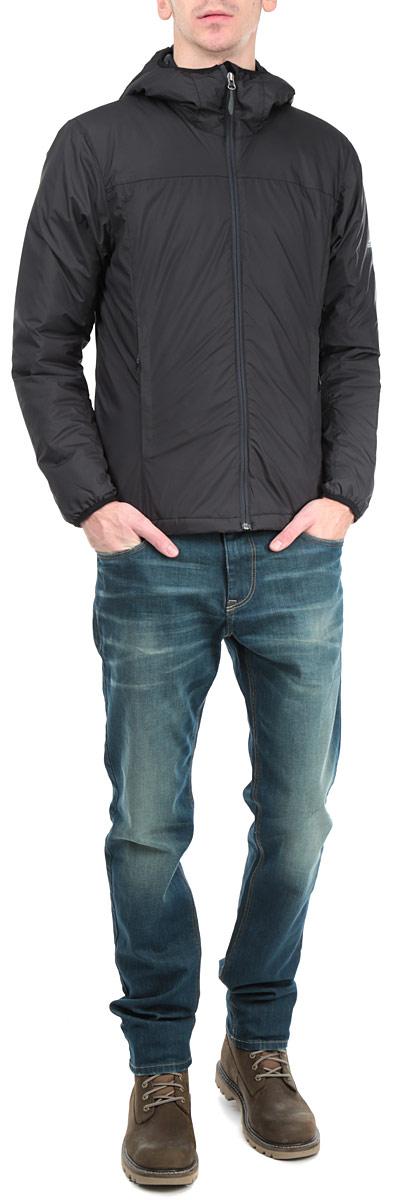 Куртка мужская Adidas Alploft, цвет: черный. AA1937. Размер 54AA1937Стильная мужская куртка Adidas Alploft с наполнителем из синтепона с добавлением пуха и пера отлично подойдет для холодных дней. Модель прямого кроя с длинными рукавами и несъемным капюшоном застегивается на молнию. Изделие дополнено двумя втачными карманами на молниях спереди, а также внутренним втачным карманом на молнии. Объем низа куртки регулируется при помощи шнурка-кулиски. Эта модная и в то же время комфортная куртка согреет вас в любые морозы и отлично подойдет как для прогулок, так и для занятия спортом.