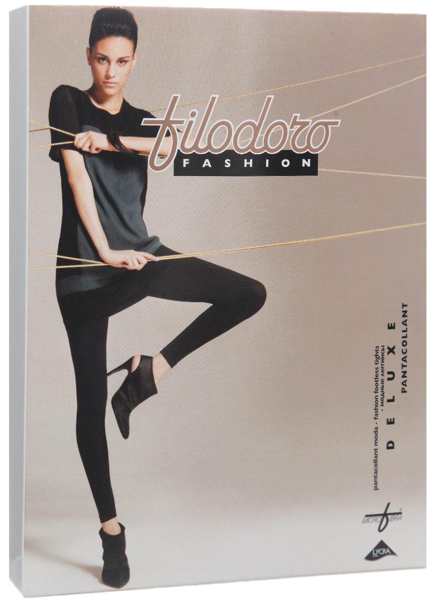 Леггинсы Filodoro Fashion Pantacollant Deluxe, цвет: Nero (черный). G114345. Размер 2/3 (40/44)G114345Плотные женские леггинсы Filodoro Fashion Pantacollant Deluxe облегающего кроя, изготовленные из высококачественного материала (микрофибры), приятные на ощупь, не сковывают движения, обеспечивая наибольший комфорт. Широкий удобный пояс препятствует сползанию и появлению неприятных ощущений в области талии. Ластовица и швы обеспечивают комфортную носку изделия. Верхняя часть выполнена без швов. Такие леггинсы станут отличным дополнением к гардеробу модницы и помогут создать неповторимый образ.