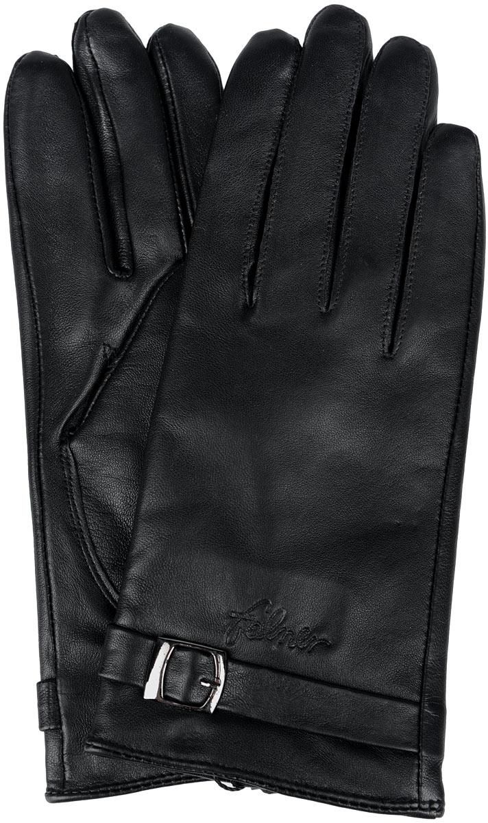 Перчатки женские Falner, цвет: черный. L-007. Размер 6,5L-007Стильные женские перчатки Falner не только защитят ваши руки от холода, но и станут великолепным украшением. Модель изготовлена из чрезвычайно мягкой и приятной на ощупь натуральной кожи, а их подкладка - из шерсти с добавлением акрила. На лицевой стороне изделие оформлено декоративным ремешком с металлической пряжкой и тиснением в виде названия бренда. Перчатки являются неотъемлемой принадлежностью одежды, вместе с этим аксессуаром вы обретаете женственность и элегантность. Они станут завершающим и подчеркивающим элементом вашего неповторимого стиля и индивидуальности.