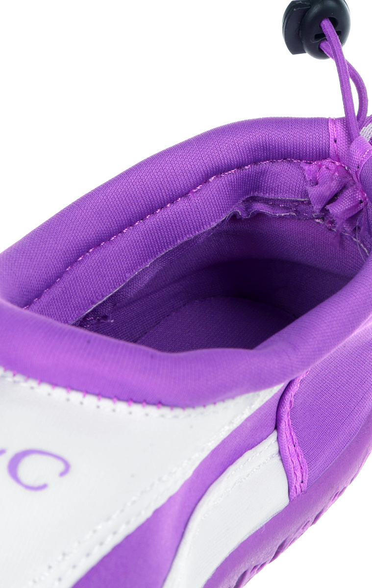 Обувь для кораллов женская iQ, цвет:  белый, сиреневый.  332122-2337.  Размер 39 iQ