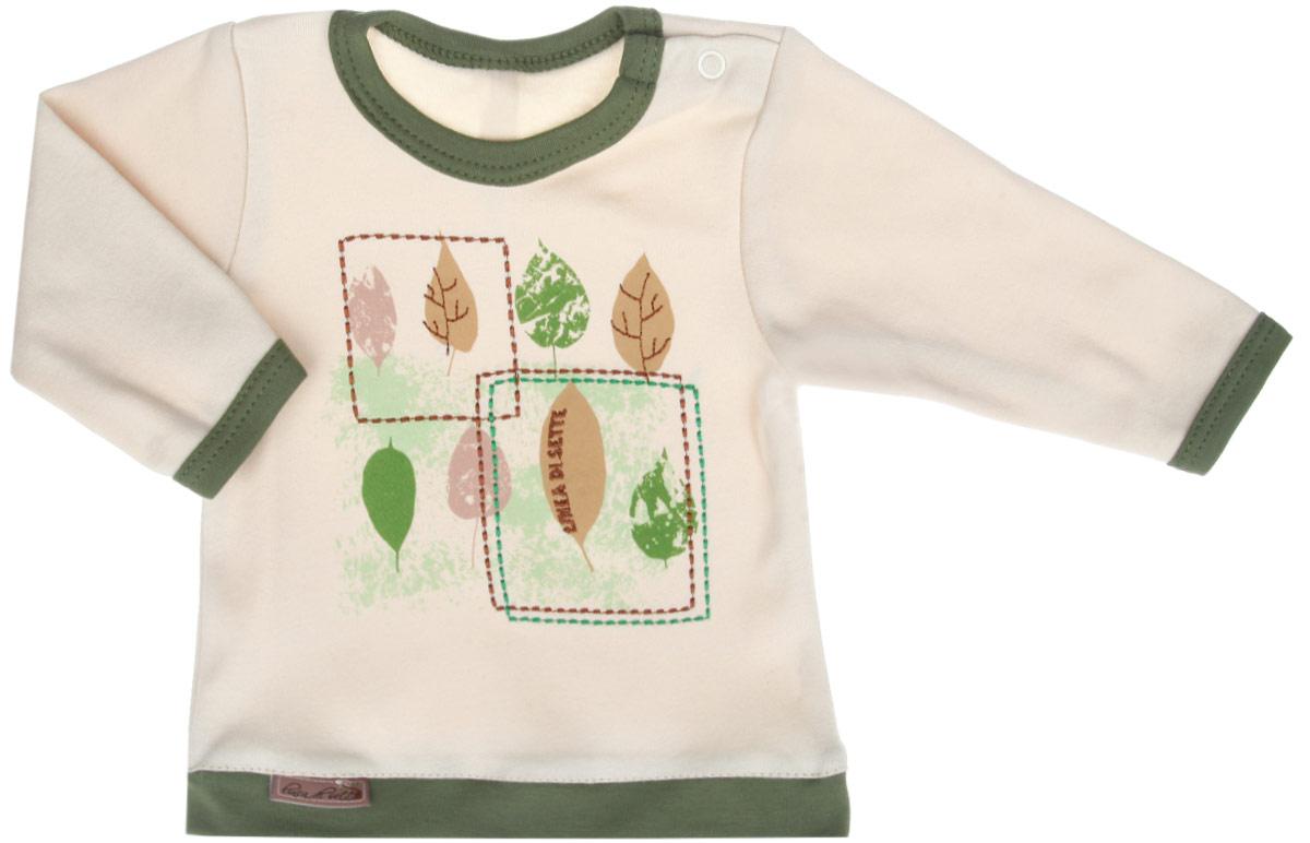 Кофточка Linea Di Sette Ботаника, цвет: бежевый, зеленый. 05-0703. Размер 86, 1,5 года05-0703Кофточка Linea Di Sette Ботаника станет отличным дополнением к гардеробу вашего ребенка. Изделие изготовлено из высококачественного органического полотна в соответствии с принятыми стандартами. Органический хлопок - это безвредная альтернатива традиционному хлопку, ткани из него не вредят нежной коже ребенка, а также их производство безопасно для окружающей среды. Органический хлопок очень мягкий, отлично пропускает воздух, обеспечивая максимальный комфорт. Кофточка с круглым вырезом горловины и длинными рукавами имеет застежку-кнопку по плечу, что позволяет с легкостью переодеть ребенка. Вырез горловины, низ рукавов и низ изделия дополнены трикотажной вставкой контрастного цвета. Модель оформлена термоаппликацией с изображением листочков, а также вышивкой.Кофточка полностью соответствует особенностям жизни ребенка в ранний период, не стесняя и не ограничивая его в движениях. В ней ваш младенец всегда будет в центре внимания.