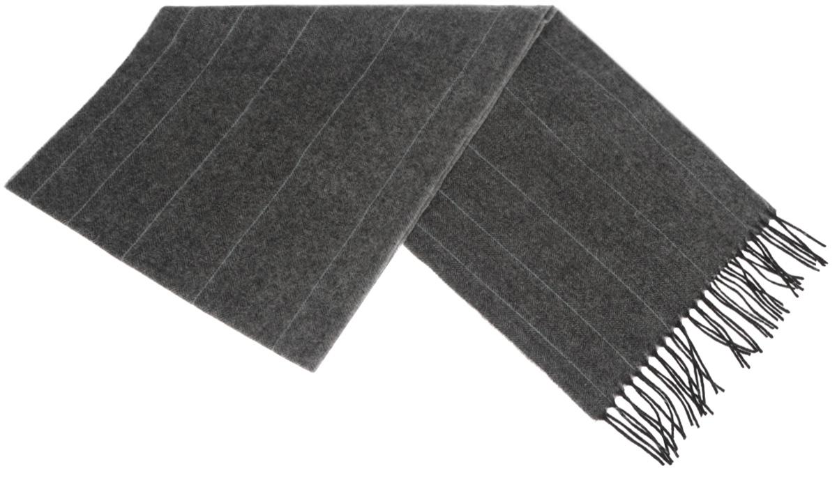 Шарф мужской Paccia, цвет: серый, черный. TH-21502-13. Размер 30 см x 165 смTH-21502-13Стильный шарф Paccia согреет вас в прохладную погоду и станет отличным завершением вашего образа. Шарф изготовлен из натуральной шерсти и оформлен узором елочка. Материал мягкий и приятный на ощупь, хорошо драпируется. Края шарфа декорированы кисточками, скрученными в жгутики.Этот модный аксессуар гармонично дополнит любой наряд и подчеркнет ваш изысканный вкус.