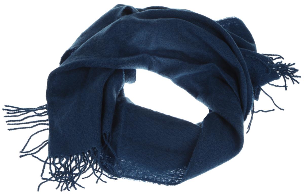 Шарф мужской Eleganzza, цвет: бирюзовый. U42-5571. Размер 46 см х 172 смU42-5571Элегантный мужской шарф Eleganzza согреет вас в холодное время года, а также станет изысканным аксессуаром, который призван подчеркнуть ваш стиль и индивидуальность. Оригинальный и стильный шарф выполнен из высококачественной шерсти с добавлением кашемира и украшен длинной бахромой в виде жгутиков по краю.Такой шарф станет превосходным дополнением к любому наряду, защитит вас от ветра и холода, и позволит вам создать свой неповторимый стиль.