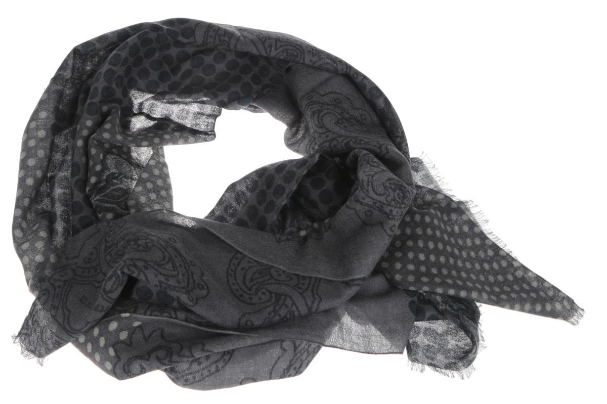 Шарф мужской Eleganzza, цвет: серый, темно-серый. S41-0770. Размер 70 см х 180 смS41-0770Элегантный мужской шарф Eleganzza согреет вас в холодное время года, а также станет изысканным аксессуаром, который призван подчеркнуть ваш стиль и индивидуальность. Оригинальный и стильный шарф выполнен из высококачественной 100% шерсти, он оформлен принтом в горох и украшен тонкой бахромой по краю.Такой шарф станет превосходным дополнением к любому наряду, защитит вас от ветра и холода, и позволит вам создать свой неповторимый стиль.