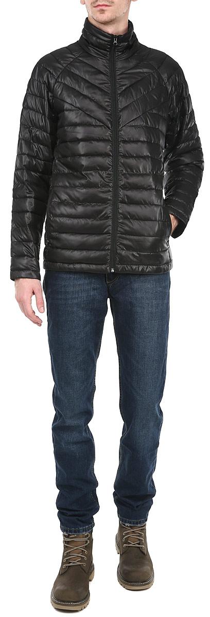 Куртка мужская Grishko, цвет: черный. AL-2646. Размер 46AL-2646Стильная мужская куртка Grishko отлично подойдет для прохладной погоды. Куртка, оформленная эффектной стежкой, застегивается на молнию и дополнена двумя прорезными карманами на молнии. Предусмотрен внутренний накладной карман. Воротник-стойка станет дополнительной защитой от ветра и холода. Утеплитель выполнен из холлофайбера, который отличается повышенной теплоизоляцией, антибактериальными свойствами, долговечностью в использовании, и необычайно легок в носке и уходе. Изделия легко стираются в машинке, не теряя первоначального внешнего вида. Эта модная куртка послужит отличным дополнением к вашему гардеробу.
