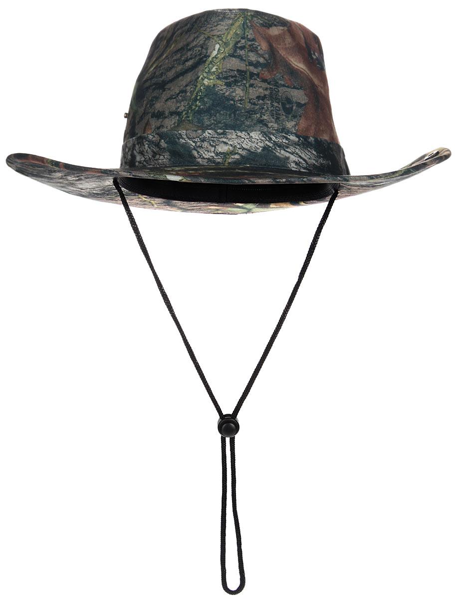 Шляпа мужская HuntLandia, цвет: зеленый. 2030040. Размер 592030040Широкополая шляпа Huntlandia - незаменимый аксессуар для охотника или туриста. Непромокаемая шляпа защитной расцветки выполнена из высококачественного материала и дополнена кнопками на тулье, благодаря которым вы сможете загнуть поля шляпы. Модель оснащена шнурком со стоппером, который позволяет надежно зафиксировать шляпу под подбородком или на шее, благодаря чему она не упадет даже при сильных порывах ветра.Легкая и удобная шляпа надежно защити вас от солнца, ветра и дождя и сделает летний отдых на природе незабываемым.Уважаемые клиенты!Размер, доступный для заказа, является обхватом головы.