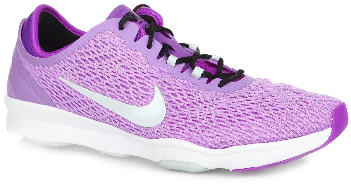 Кроссовки для бега женские Nike WMNS Zoom Fit, цвет: сиреневый, фиолетовый, черный. 704658-501. Размер 6,5 (37)
