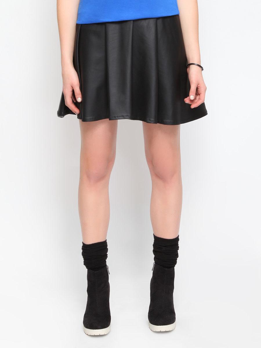 Юбка Troll, цвет: черный. TSD0024CAS4. Размер L (48)TSD0024CAS1Стильная юбка Troll изготовлена из полиэстера с добавлением эластана. Юбка расклешенного кроя. На поясе - широкая эластичная резинка.Эта модная и в тоже время комфортная юбка - отличный вариант на каждый день.