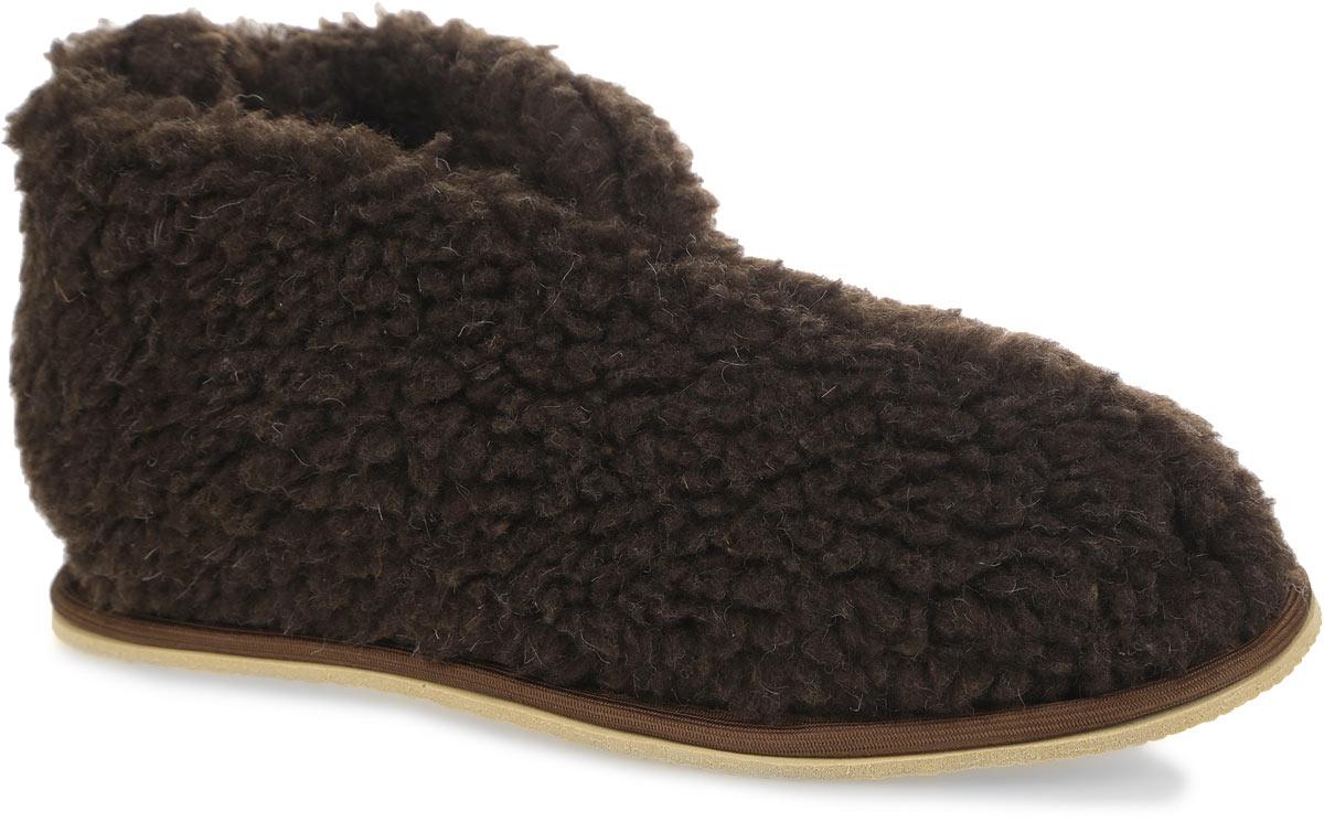 Тапки-бабуши Smart Textile, цвет: темно-коричневый. H521. Размер 35H521Мягкие тапки-бабуши Smart Textile выполнены из натурального овечьего меха. Изделия из овечьего меха по своему удобству и полезным свойствам не имеют аналогов, они практичны и универсальны. Овечий мех уменьшает неприятные ощущения в ногах и улучшает кровообращение. Изделия быстро поглощают влагу, препятствуя размножению бактерий и вирусов. Рельефная подошва, выполненная из EVA, предотвращает скольжение. Теплые и приятные на ощупь тапки-бабуши вернут легкость уставшим ногам и защитят их от холода.