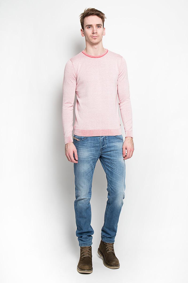 Джемпер мужской Tom Tailor, цвет: светло-розовый. 3020593.00.10. Размер S (46)3020593.00.10Стильный мужской джемпер Tom Tailor, выполненный из 100% хлопка, приятный на ощупь, не сковывает движения, обеспечивая наибольший комфорт. Модель с круглым вырезом горловины и длинными рукавами идеально гармонирует с любыми предметами одежды и будет уместна и на отдых, и работу. Горловина, низ и манжеты изделия связаны мелкой резинкой, что предотвращает деформацию при носке и препятствует проникновению холодного воздуха.Джемпер Tom Tailor станет отличным дополнением вашего гардероба.