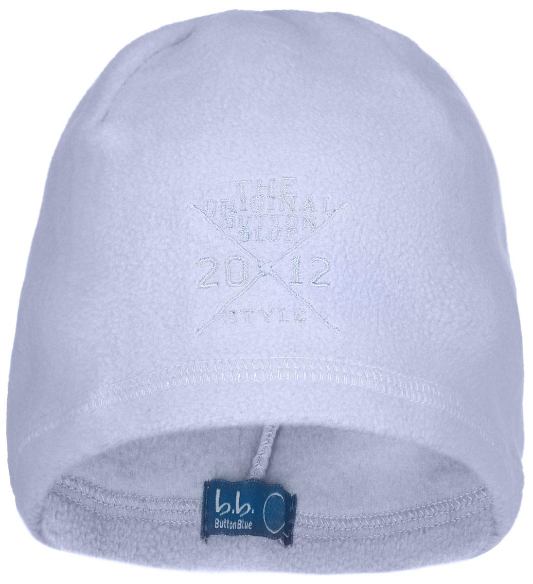 Шапка для мальчика Button Blue, цвет: голубой. 116BBBB7308. Размер 56, 12-13 лет116BBBB7308Стильная флисовая шапка для мальчика Button Blue идеально подойдет для прогулок в прохладное время года. Изготовленная из высококачественного полиэстера, она необычайно мягкая и легкая, не раздражает нежную кожу ребенка и хорошо вентилируется. Шапка оформлена небольшой вышивкой с надписью The Original Button Blue Style 2012.Такая шапка станет модным и стильным предметом детского гардероба. Она улучшит настроение даже в хмурые прохладные дни! Уважаемые клиенты!Размер, доступный для заказа, является обхватом головы ребенка.