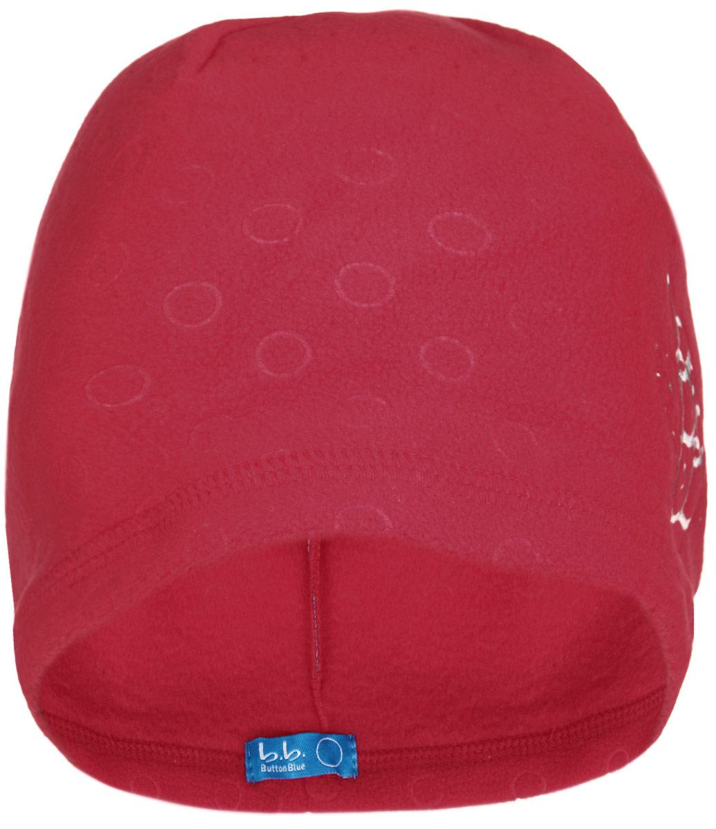 Шапка для девочки Button Blue, цвет: красный. 116BBGB7308. Размер 56, 12-13 лет116BBGB7308Стильная теплая шапка для девочки Button Blue идеально подойдет для прогулок и активных игр в холодное время года. Шапка выполнена из флиса, она невероятно мягкая и приятная на ощупь, великолепно тянется и удобно сидит. Такая шапочка отлично дополнит любой наряд. Шапка украшена вышивкой в виде стилизованных букв BB.Удобная шапка станет модным и стильным дополнением гардероба вашей маленькой принцессы, надежно защитит ее от холода и ветра, и поднимет ей настроение даже в пасмурные дни! Уважаемые клиенты!Размер, доступный для заказа, является обхватом головы.