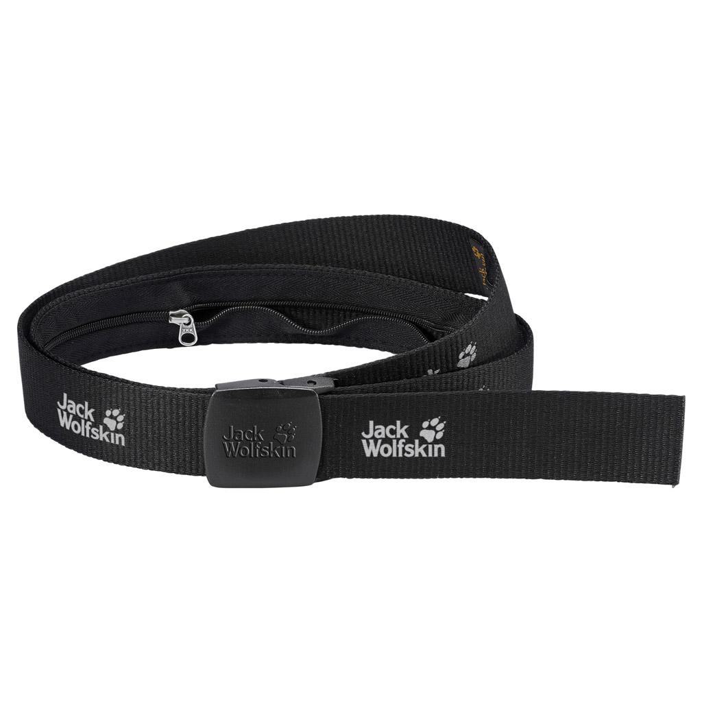 Ремень Jack Wolfskin Secret Belt Wide, цвет: черный. 8000851-6000. Размер универсальный8000851-6000Плавно регулируемый ремень с потайным карманом