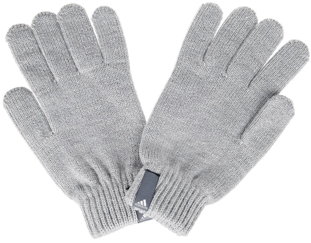 Перчатки Adidas Performance, цвет: серый. AB0346. Размер XL (24)AB0346Теплые вязаные Adidas Performance станут великолепным дополнением вашего образа и защитят ваши руки от холода и ветра во время прогулок.Перчатки, выполненные из акрила, полиэстера и эластана, надежно сохраняют тепло и обеспечивают удобство и комфорт при носке.Такие перчатки будут оригинальным завершающим штрихом в создании современного модного образа, они подчеркнут ваш изысканный вкус и станут незаменимым и практичным аксессуаром.