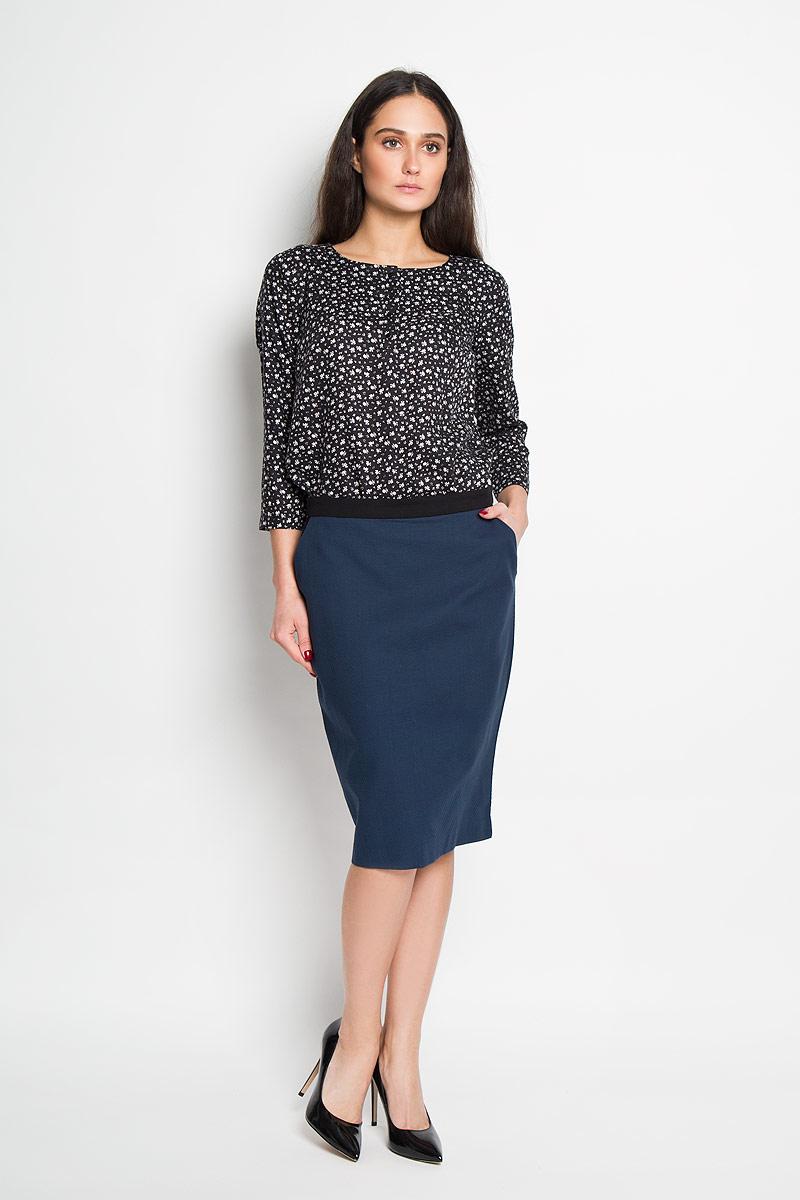 Юбка Sela, цвет: темно-синий. SKk-118/783-6171. Размер L (48)SKk-118/783-6171Эффектная юбка Sela выполнена из натурального хлопка, она обеспечит вам комфорт и удобство при носке.Юбка застегивается на молнию сзади и дополнена двумя втачными карманами спереди. Строгая классическая юбка-карандаш прекрасно дополнит любой наряд. Модная юбка-карандаш выгодно освежит и разнообразит ваш гардероб. Создайте женственный образ и подчеркните свою яркую индивидуальность! Классический фасон и оригинальное оформление этой юбки сделают ваш образ непревзойденным.