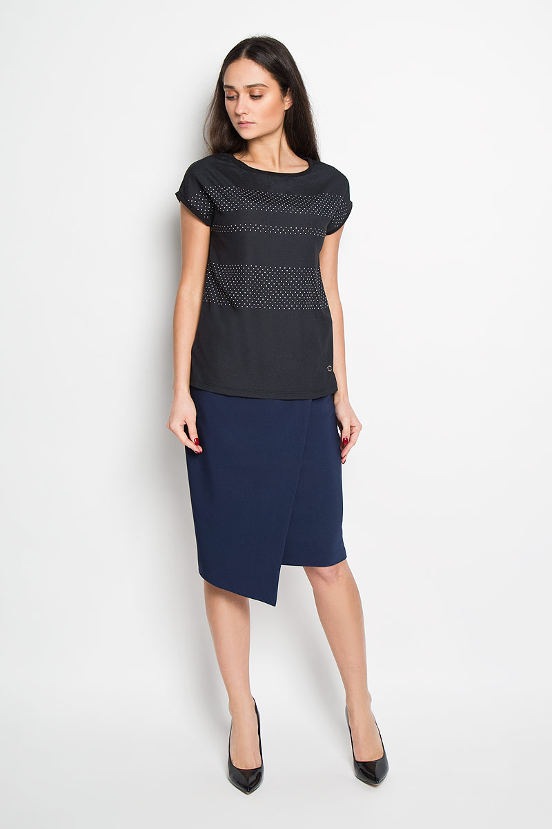 Блузка женская Top Secret, цвет: черный. SPO2675CA. Размер 34 (40)SPO2675CAСтильная женская блуза Top Secret, выполненная из полиэстера и хлопка, подчеркнет ваш уникальный стиль и поможет создать оригинальный женственный образ.Блузка с короткими цельнокроеными рукавами и круглым вырезом горловины подойдет к любому наряду. Модель украшена принтом в мелкий горох. Такая блузка идеально подойдет для жарких летних дней. Такая блузка будет дарить вам комфорт в течение всего дня и послужит замечательным дополнением к вашему гардеробу.