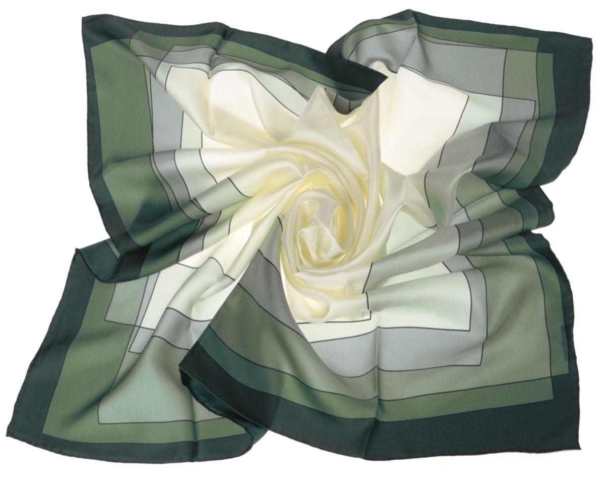 Платок женский Fabretti, цвет: светло-зеленый, темно-зеленый. CX1516-47-4. Размер 90 см х 90 смCX1516-47-4Стильный женский платок Fabretti станет великолепным завершением любого наряда. Платок изготовлен из высококачественного шелка и оформлен принтом с изображением оригинального цветового градиента. Классическая квадратная форма позволяет носить платок на шее, украшать им прическу или декорировать сумочку. Мягкий и шелковистый платок поможет вам создать изысканный женственный образ, а также согреет в непогоду. Такой платок превосходно дополнит любой наряд и подчеркнет ваш неповторимый вкус и элегантность.