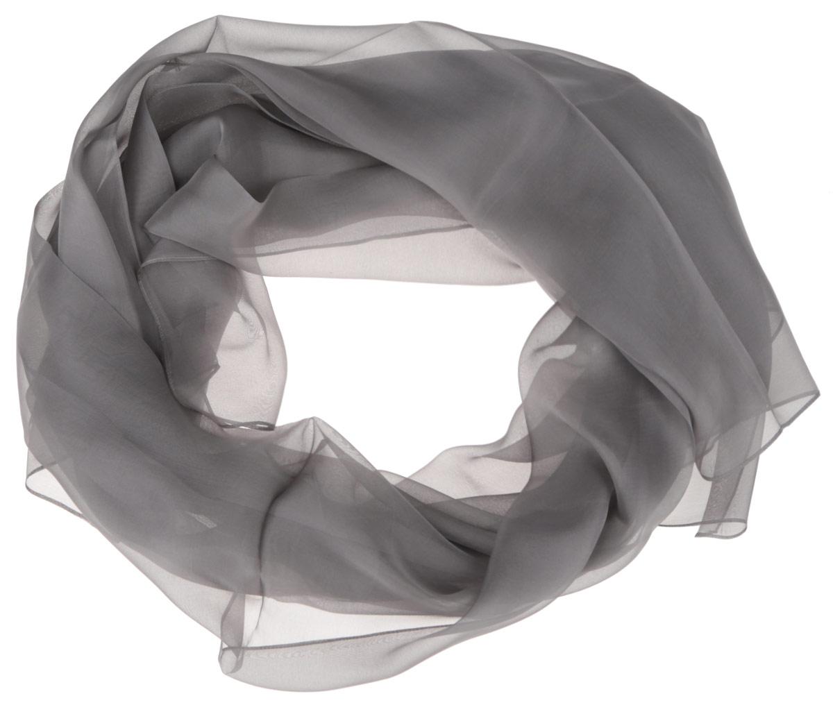 Шарф женский Fabretti, цвет: серый. CX1516-61-9. Размер 180 см х 90 смCX1516-61-9Стильный женский платок Fabretti станет великолепным завершением любого наряда. Платок изготовлен из высококачественного шелка. Вы сможете сочетать этот оригинальный однотонный платок с любыми нарядами. Классическая квадратная форма позволяет носить платок на шее, украшать им прическу или декорировать сумочку. Мягкий и шелковистый платок поможет вам создать изысканный женственный образ, а также согреет в непогоду. Такой платок превосходно дополнит любой наряд и подчеркнет ваш неповторимый вкус и элегантность.