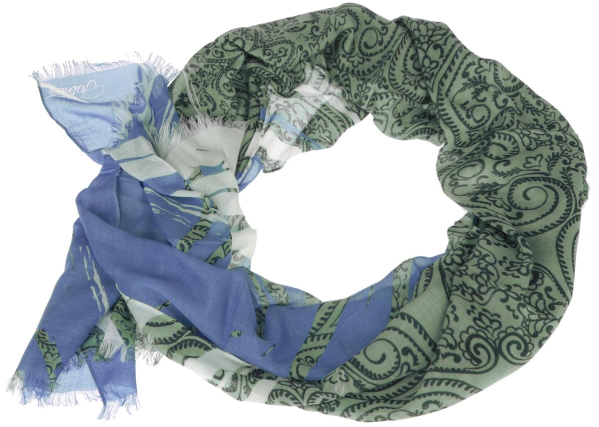 Шарф женский Fabretti, цвет: голубой, зеленый. DS2015-001-21. Размер 184 см х 70 смDS2015-001-21Модный женский шарф Fabretti подарит вам уют и станет стильным аксессуаром, который призван подчеркнуть вашу индивидуальность и женственность. Тонкий шарф выполнен из высококачественного модала с добавлением вискозы, он невероятно мягкий и приятный на ощупь. Шарф оформлен принтом с оригинальным цветочным орнаментом.Этот модный аксессуар гармонично дополнит образ современной женщины, следящей за своим имиджем и стремящейся всегда оставаться стильной и элегантной. Такой шарф украсит любой наряд и согреет вас в непогоду, с ним вы всегда будете выглядеть изысканно и оригинально.