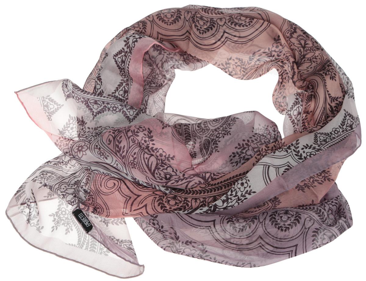 Шарф женский Fabretti, цвет: розовый, сиреневый. CX1516-56-10. Размер 180 см х 65 смCX1516-56-10Модный женский шарф Fabretti подарит вам уют и станет стильным аксессуаром, который призван подчеркнуть вашу индивидуальность и женственность. Тонкий шарф выполнен из высококачественного шелка, он невероятно мягкий и приятный на ощупь. Шарф оформлен изысканным цветочным принтом.Этот модный аксессуар гармонично дополнит образ современной женщины, следящей за своим имиджем и стремящейся всегда оставаться стильной и элегантной. Такой шарф украсит любой наряд и согреет вас в непогоду, с ним вы всегда будете выглядеть изысканно и оригинально.
