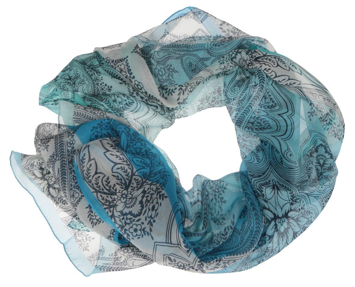 Шарф женский Fabretti, цвет: мятный, голубой. CX1516-56-9. Размер 180 см х 65 смCX1516-56-9Модный женский шарф Fabretti подарит вам уют и станет стильным аксессуаром, который призван подчеркнуть вашу индивидуальность и женственность. Тонкий шарф выполнен из высококачественного шелка, он невероятно мягкий и приятный на ощупь. Шарф оформлен изысканным цветочным принтом.Этот модный аксессуар гармонично дополнит образ современной женщины, следящей за своим имиджем и стремящейся всегда оставаться стильной и элегантной. Такой шарф украсит любой наряд и согреет вас в непогоду, с ним вы всегда будете выглядеть изысканно и оригинально.
