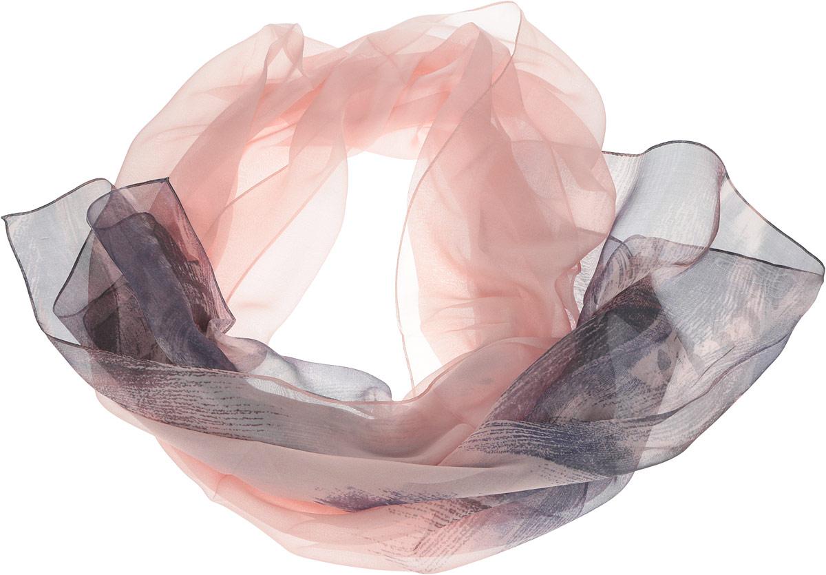 Шарф женский Leo Ventoni, цвет: пудровый, темно-синий, коричневый. N0502-1. Размер 180 см х 66 смN0502-1Женский шарф Leo Ventoni позволит вам создать неповторимый и запоминающийся образ. Изготовленный из высококачественного шелка, он очень легкий, полупрозрачный, имеет приятную на ощупь текстуру. Модель оформлена оригинальным принтом.Такой аксессуар станет стильным дополнением к гардеробу современной женщины, стремящейся всегда оставаться яркой и элегантной.