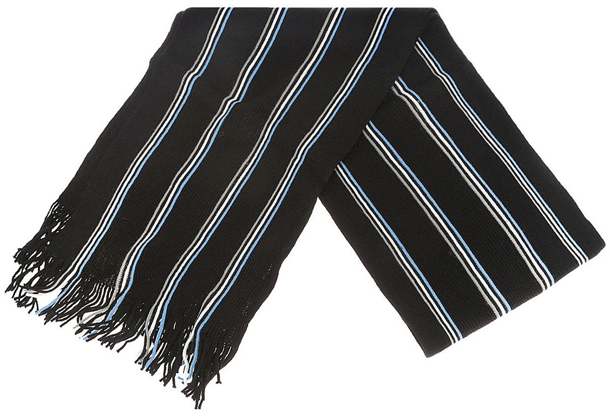 Шарф мужской Fabretti, цвет: черный, голубой, белый, серый. SPS-0680. Размер 180 см х 30 смSPS-0680Мужской шарф Fabretti станет стильным дополнением к вашему гардеробу. Выполненный из вискозы, он очень мягкий, имеет приятную на ощупь текстуру, максимально сохраняет тепло. Изделие оформлено принтом в полоску, по краям дополнено тонкими кисточками, скрученными в жгутики. Модный аксессуар поможет создать безупречный стиль, а также подарит ощущение тепла и комфорта.