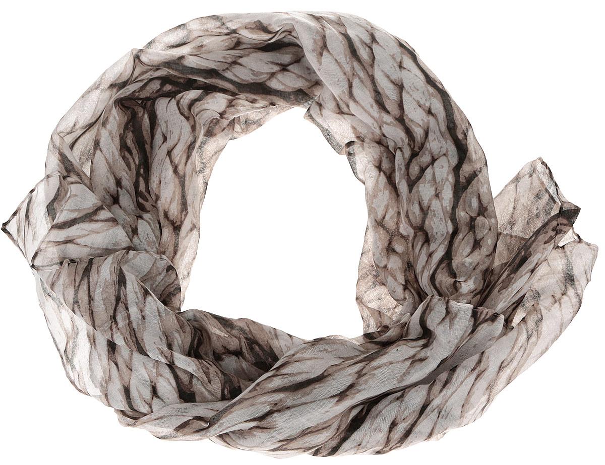 Шарф женский Fabretti, цвет: бежевый. SR12677-1. Размер 180 см х 90 смSR12677-1Модный женский шарф Fabretti подарит вам уют и станет стильным аксессуаром, который призван подчеркнуть вашу индивидуальность и женственность. Тонкий шарф выполнен из высококачественной 100% вискозы, он невероятно мягкий и приятный на ощупь. Шарф украшен принтом с изображением крупных плетеных жгутов.Этот модный аксессуар гармонично дополнит образ современной женщины, следящей за своим имиджем и стремящейся всегда оставаться стильной и элегантной. Такой шарф украсит любой наряд и согреет вас в непогоду, с ним вы всегда будете выглядеть изысканно и оригинально.