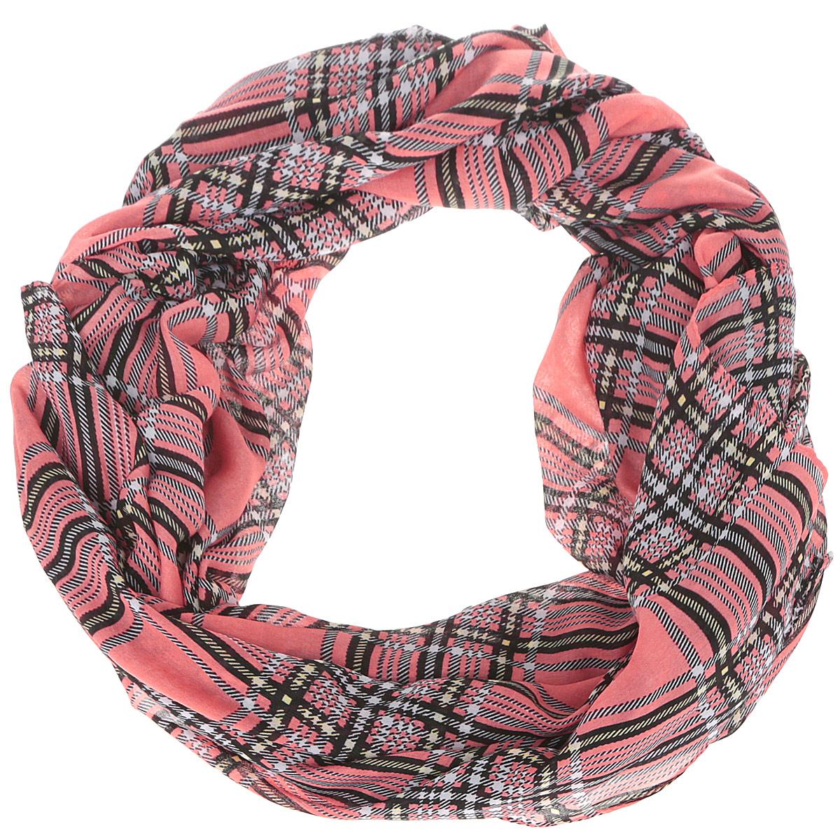 Шарф женский Fabretti, цвет: коралловый. RH15152-104. Размер 180 см х 90 смRH15152-104Модный женский шарф Fabretti подарит вам уют и станет стильным аксессуаром, который призван подчеркнуть вашу индивидуальность и женственность. Тонкий шарф выполнен из высококачественной 100% вискозы, он невероятно мягкий и приятный на ощупь. Шарф оформлен принтом в крупную клетку.Этот модный аксессуар гармонично дополнит образ современной женщины, следящей за своим имиджем и стремящейся всегда оставаться стильной и элегантной. Такой шарф украсит любой наряд и согреет вас в непогоду, с ним вы всегда будете выглядеть изысканно и оригинально.