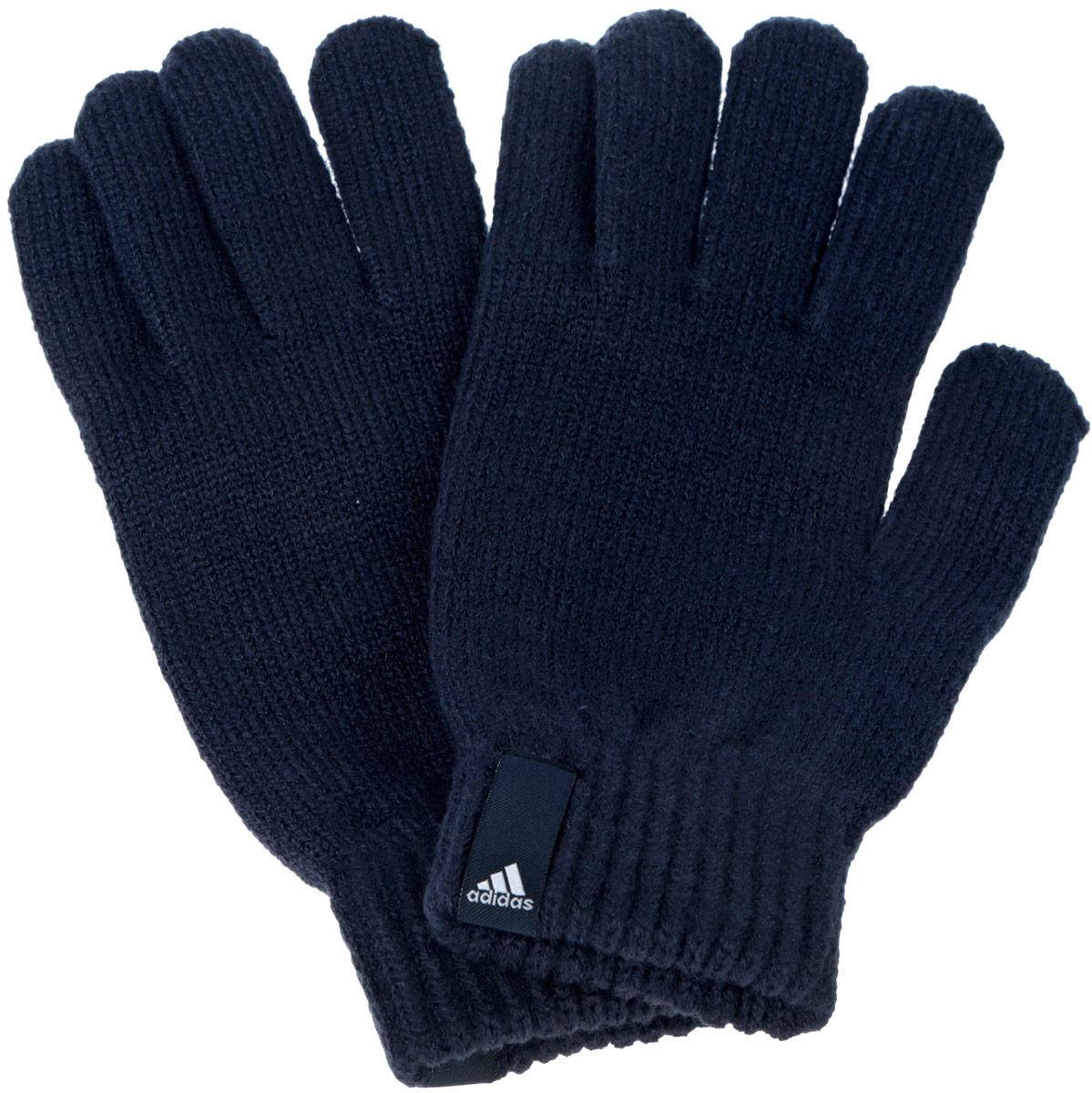 Перчатки Adidas Performance, цвет: темно-синий. AB0348. Размер M (20)AB0348Теплые вязаные Adidas Performance станут великолепным дополнением вашего образа и защитят ваши руки от холода и ветра во время прогулок.Перчатки, выполненные из акрила, полиэстера и эластана, надежно сохраняют тепло и обеспечивают удобство и комфорт при носке.Такие перчатки будут оригинальным завершающим штрихом в создании современного модного образа, они подчеркнут ваш изысканный вкус и станут незаменимым и практичным аксессуаром.