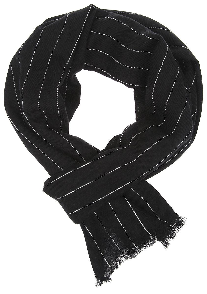 Шарф мужской Leo Ventoni, цвет: черный. YQC0021-2. Размер 200 см х 40 смYQC0021-2Элегантный мужской шарф Leo Ventoni согреет вас в холодное время года, а также станет изысканным аксессуаром, который призван подчеркнуть ваш стиль и индивидуальность. Оригинальный шарф выполнен из высококачественной 100% шерсти, оформлен тонкими полосками и украшен тонкой бахромой по краям.Такой шарф станет превосходным дополнением к любому наряду, защитит вас от ветра и холода и позволит вам создать свой неповторимый стиль.