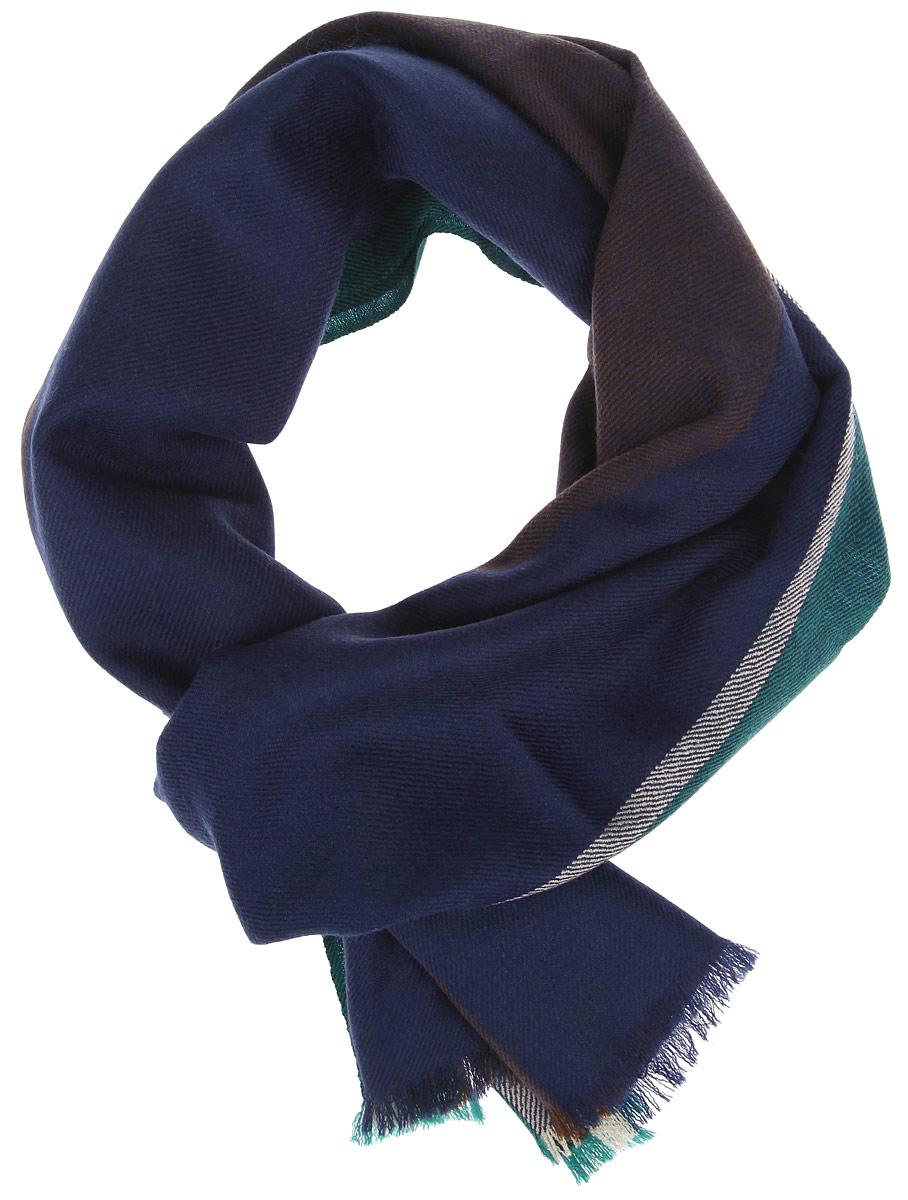 Шарф мужской Fabretti, цвет: темно-синий, темно-зеленый, темно-коричневый. YQ27-1. Размер 45 см х 183 смYQ27-1Элегантный мужской шарф Fabretti согреет вас в холодное время года, а также станет изысканным аксессуаром, который призван подчеркнуть ваш стиль и индивидуальность. Оригинальный шарф выполнен из натуральной шерсти, оформлен широкими контрастными полосками и украшен тонкой бахромой по краям.Такой шарф станет превосходным дополнением к любому наряду, защитит вас от ветра и холода и позволит вам создать свой неповторимый стиль.