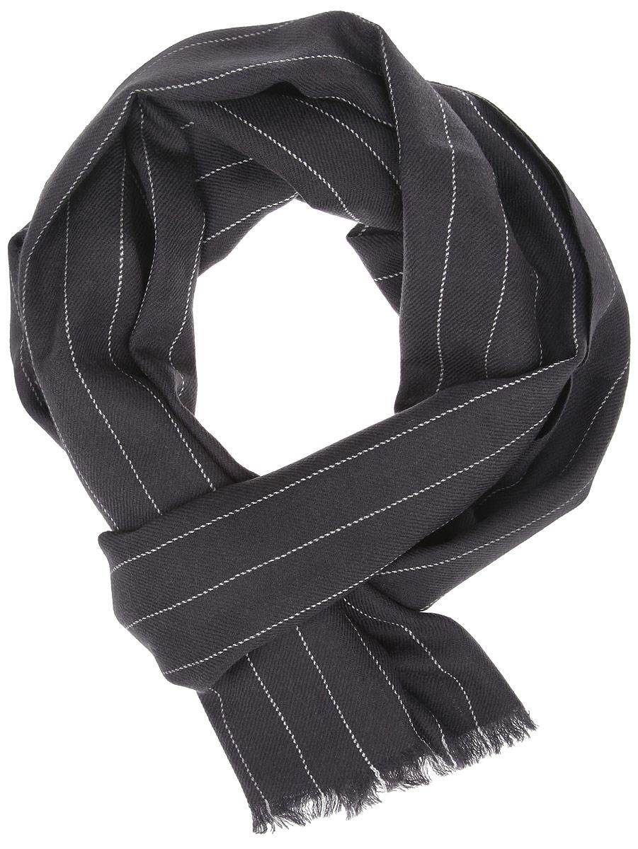 Шарф мужской Leo Ventoni, цвет: темно-серый. YQC0020-1. Размер 200 см х 40 смYQC0020-1Элегантный мужской шарф Leo Ventoni согреет вас в холодное время года, а также станет изысканным аксессуаром, который призван подчеркнуть ваш стиль и индивидуальность. Оригинальный шарф выполнен из высококачественной 100% шерсти, оформлен тонкими полосками и украшен тонкой бахромой по краям.Такой шарф станет превосходным дополнением к любому наряду, защитит вас от ветра и холода и позволит вам создать свой неповторимый стиль.