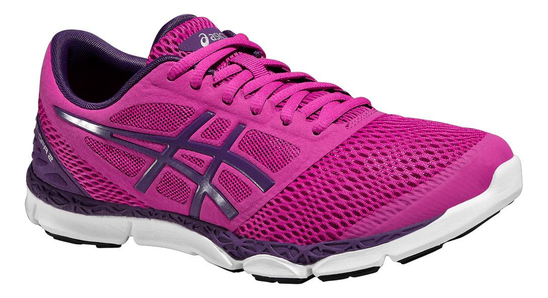 Кроссовки для бега женские Asics 33-DFA 2, цвет: розовый, фиолетовый. T672N-2133. Размер 9 (39)T672N-2133Кроссовки от Asics 33-DFA 2 - это обувь для естественного бега, которая максимально сближает вас с дорогой. Модель выполнена из текстиля и дополнена вставками из полимерного материала. Классическая шнуровка надежно зафиксирует изделие на ноге. По бокам обувь оформлена фирменным принтом и вставкой, на язычке - вставкой с названием бренда, на заднике - символикой бренда со светоотражающим элементом, который создает дополнительную видимость в темное время суток. Стелька изготовлена из ЭВА материала с верхним покрытием из текстиля. Подкладка из текстиля обеспечит комфорт и предотвратит натирание. Технология FluidAxis и исключительная гибкость заставят ваши ноги работать как никогда. Вы ощутите разницу, когда снова вернетесь к своим кроссовкам с амортизацией. Благодаря низкой средней подошве и утопленной на 4 мм вниз пятке ваши ноги будут ощущать весь рельеф земли, а мышцы будут работать с большей нагрузкой.Подошва из полимера и износостойкой резины AHAR+ с уникальным рисунком протектора обеспечивает равномерное распределение нагрузки на стопу как при подъеме, так и при спуске. Такие кроссовки займут достойное место среди вашей коллекции обуви.