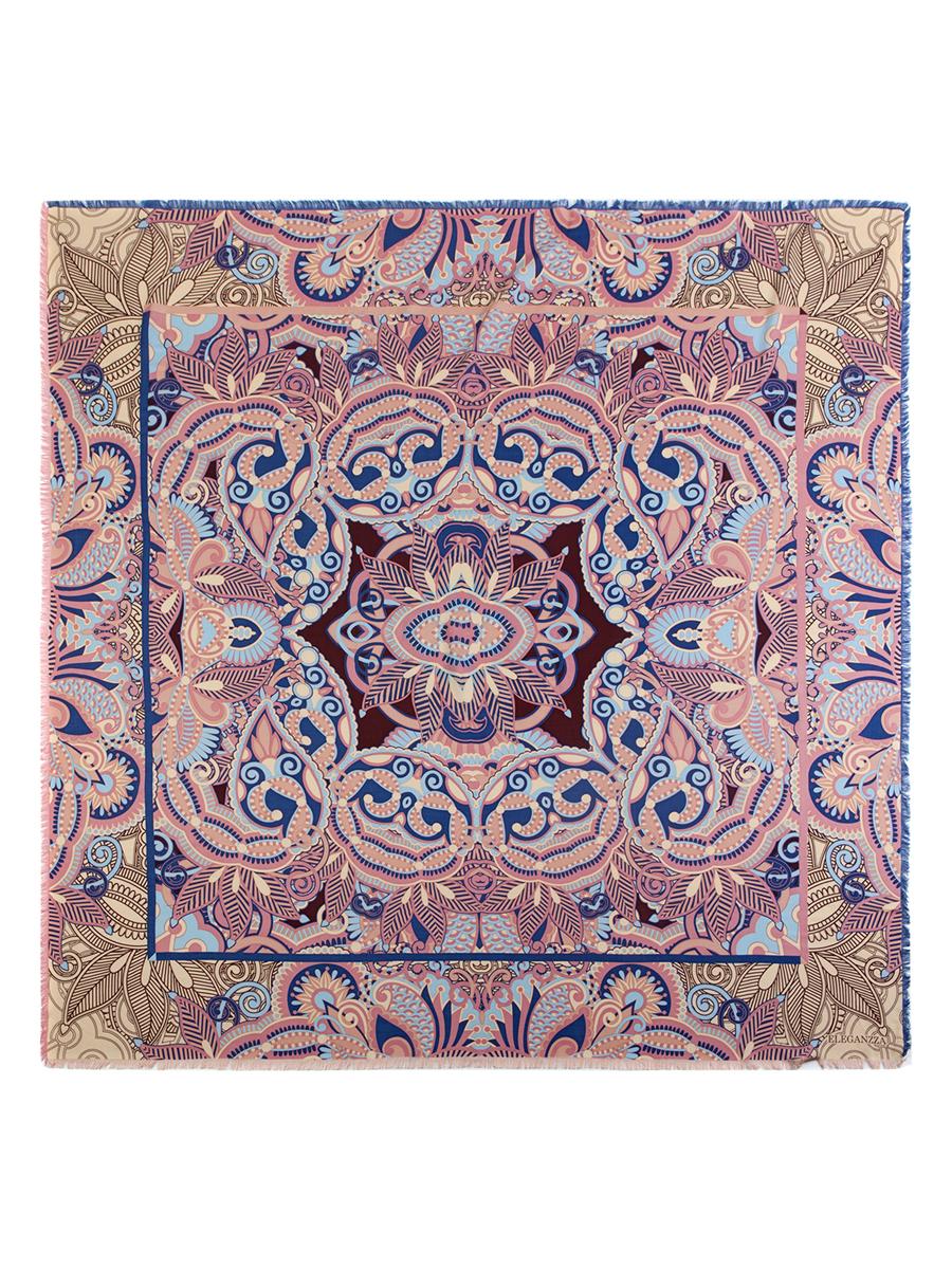Платок женский Eleganzza, цвет: синий, бежевый, розовый. D34-1191. Размер 110 см х 110 смD34-1191Стильный женский платок Eleganzza станет великолепным завершением любого наряда. Платок изготовлен из шелка и вискозы, оформлен оригинальным орнаментом и по кроям дополнен бахромой. Такой платок превосходно дополнит любой наряд и подчеркнет ваш неповторимый вкус и элегантность.